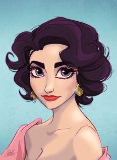 Lizz Taylor as a princess