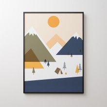 Cascadia Campground Print