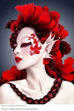 Artistic Woman - Red Passion Wallpapers and Images Sfx Makeup, Costume Makeup, Make Up Art, How To Make, Fantasy Make Up, Theatrical Makeup, Special Effects Makeup, Trash Polka, Creative Makeup