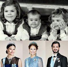 Royal Children of Sweden - Victoria, Madeleine and Carl Philip.