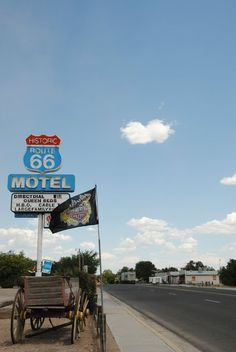 route 66 motel sign