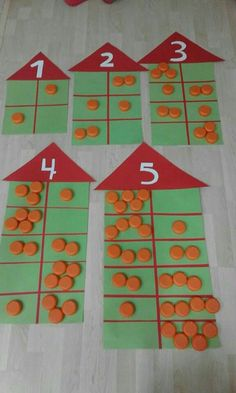 … Mehr zu Mathematik und Lernen im Allgemeinen unt… Kindergarten Math Activities, Preschool Math, Math Classroom, Teaching Math, Subitizing Activities, Teaching Numbers, Numbers Kindergarten, Numbers Preschool, Montessori Activities