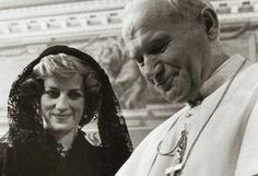 Two beautiful hearts.Princess Diana and Pope John Paul II. You both now walk amongst the Angels in Heaven.
