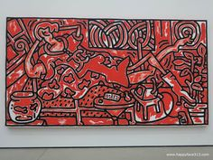 http://happyface313.com/2015/10/26/dream-big-or-the-broad/ - The Broad Keith Haring Red Room