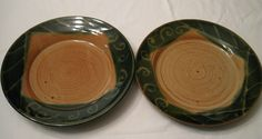 Set of 2 Large Dinner Plates by BarroYagua on Etsy, $50.00