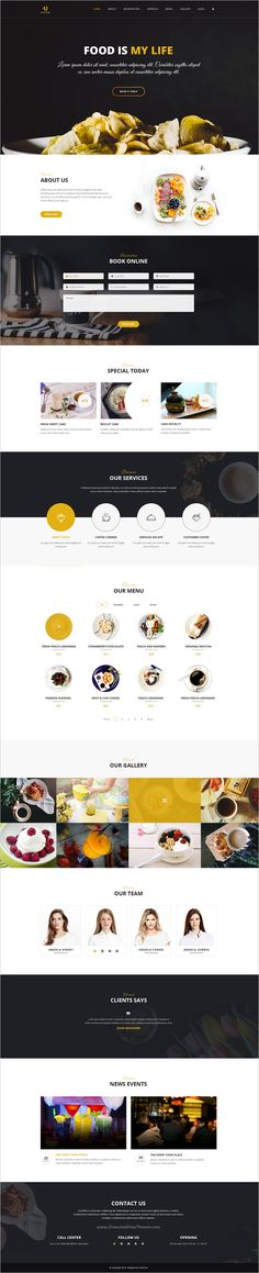 4uCoffee is a wonderful #PSD template for one page #restaurant and #cafes websites download now➩ https://themeforest.net/item/4ucoffee-one-page-psd-template/19137180?ref=Datasata