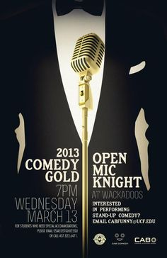 Open Mic Knight poster design