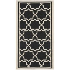 Perfect for any backyard, patio, deck or along the pool, this rug is great for outdoor use as well as any indoor use that requires an easy to maintain rug. This rug has a black background and displays stunning panel color of beige.
