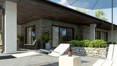 Projekt domu Z279 Parterowy dom z odwróconym układem, garażem oraz dachem wielospadowym. Exterior, House Design, Outdoor Decor, Home Decor, Decoration Home, Room Decor, Outdoor Rooms, Architecture Design, Home Interior Design