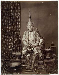 His Majesty Prabat Somdet Pra Parameñdr Mahá Mongkut, First King of Siam, in State Costume, 1865