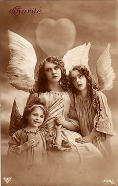 https://flic.kr/p/4cg7yV | Vintage Postcard ~ Angels | Postcards from my collection.  Please feel free to use them in your art. but please don't use them in collage sheets to sell.  Thanks!