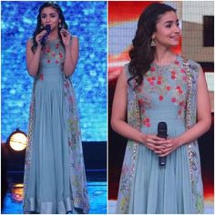 Alia Bhatt In Floor Length Gown,New Design gown, Mode Bollywood, Bollywood Fashion, Bollywood Style, Kurta Designs, Indian Attire, Indian Outfits, Indian Wear, Western Outfits, New Design Gown