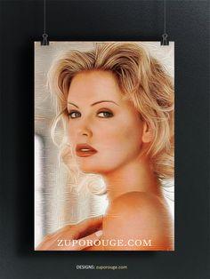 Charlize Theron, Frame, Home Decor, Homemade Home Decor, A Frame, Frames, Hoop, Decoration Home, Interior Decorating