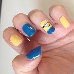 Minions Nail MinionsNailArt Easy Nails