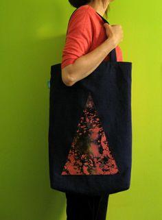 lukola handmade // Duża torba TRÓJKĄT // The big bag TRIANGLE