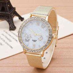 5558cee2c194 Lote 10 Relojes Dorado Reloj Color Oro Geneva Envio Gratis en Mercado Libre  México