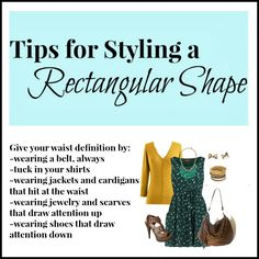 Clothed with Grace: Tips for Styling a Rectangle Shape