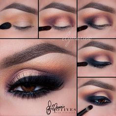 """Get The Look with #MotivesMaven @ElyMarino using the Motives Dynasty Palette for this gorgeous smudged smokey look! STEPS: 1.Begin by applying """"Venus"""" slightly above the crease 2.Taking """"Electra"""" apply on both the inner and outer corner of the eyes 3.Using """"Medusa"""" apply to the very outer corner of the eyes and blend! Then on a flat brush pat """"Theia"""" onto the center of the lid 4.Using """"Motives for La La Khol Black Eyeliner"""" line the lash line and then pat """"Medusa"""" over top making sure to…"""