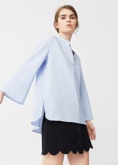 Poplin blouse -  Woman   MANGO United Kingdom
