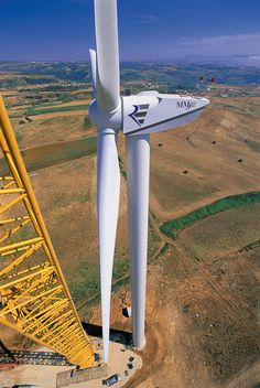 View from construction crane Wind Power, Colour Board, Crane, Wind Turbine, Solar, Construction, Image Archive, Photos, Industrial