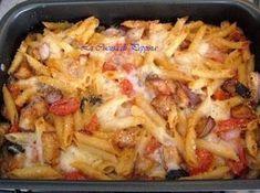 Idea Board in Pictures No Salt Recipes, Light Recipes, Pasta Recipes, Cooking Recipes, Healthy Recipes, Pizza, Pasta Penne, Pasta Company, Italian Pasta