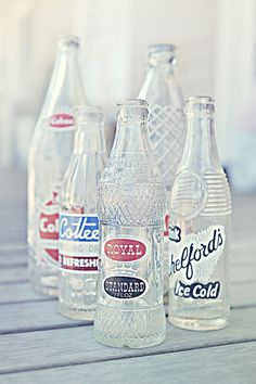 Vintage soda bottles, love them and collect them.