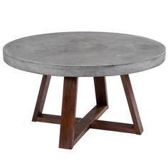 Sunpan 'MIXT' Devons Rustic Concrete Round Coffee Table