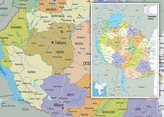 Tanzania Political Map Wall Maps, Vinyl Banners, Tanzania, Politics, Paper, Prints, Art, Art Background, Kunst
