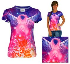 Spirit Wings Pink Ribbon Tee at The Animal Rescue Site