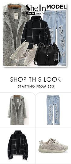 """Sheinside contest !!"" by dianagrigoryan ❤ liked on Polyvore featuring Chicwish, adidas Originals and MICHAEL Michael Kors"