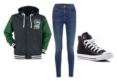 """""""Krysta's Outfit #1"""" by zeola-coble on Polyvore featuring J Brand and Converse"""