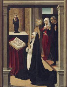 """""""Vocación de Santa Catalina de Siena"""", Pedro Romana (primer cuarto del s. XV - primer tercio del s. XVI)"""