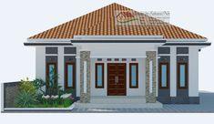 30 Unique House Design Minimalist & Simple Models in the world Simple House Design, Minimalist House Design, Minimalist Home, Village House Design, Village Houses, Style At Home, Bungalow Haus Design, One Storey House, Architectural House Plans