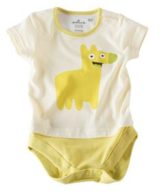 He'll be a giggle monster with this 100% cotton body suit. Part of the Monster Pals collection designed by Hallmark artists.