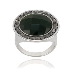 Sterling Silver Marcasite and Faceted Round Onyx Ring, Size 6 - Marcasite Jewelry, Onyx Ring, Gemstone Rings, Gemstones, Sterling Silver, Amazon, Amazons, Gems, Riding Habit