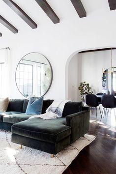 feng shui living room mirror