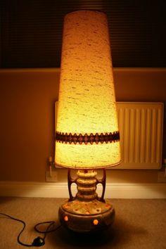 Large 70s Retro Twin Bulb Fat Lava Floor Lamp | EBay