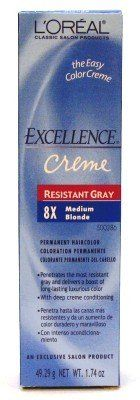 L'Oreal Excellence Creme Resistant - 8 Medium Blonde 1.74oz (3-Pack) with Free Nail File *** Click image to review more details. (This is an affiliate link and I receive a commission for the sales)