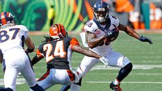 Emmanuel Sanders and Demaryius Thomas wanted the ball more and got it as both had over 100 yards receiving in the Broncos' win in Cincinnati. Broncos Win, Denver Broncos Baby, Trevor Siemian, Demaryius Thomas, Emmanuel Sanders, 100 Yards, Espn, Cardinals, Cincinnati