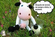 MADRES HIPERACTIVAS: Vaca Amigurumi, Patrón Gratis