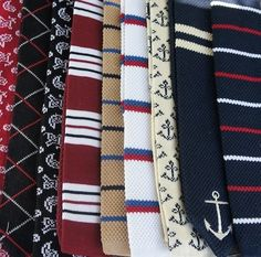 Nice knotted casual ties.
