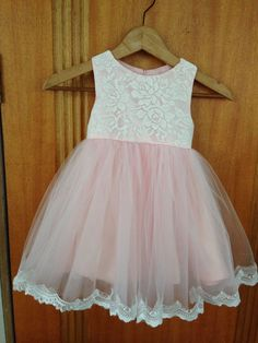 real picture 1pcs vintage lace light pink puffy skirt flower girls dresses at wedding party/girls light pink dress for party