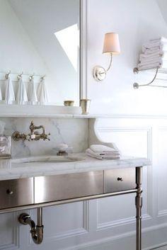Gorgeous metal and marble vanity