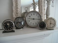 Currently loving clock collections, which is funny b/c the only clocks I have in the house are on my iPhone & the stove.