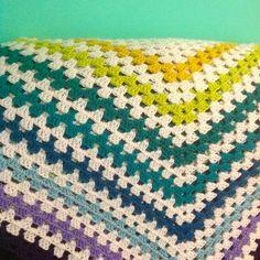giant granny square blanket in progress by Adaiha, via Flickr