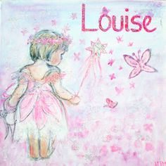 hand-painted personalised fairy canvas