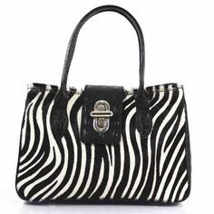 ZEBRA PRINT DESIGNER STYLE REAL LEATHER TOTE HANDBAG  Flap with metal lock closure Adjustable detachable crossbody strap Interior zip pocket Horse skin fur VERA PELLE MADE IN ITALY  Handle drop: 13cm  Dimensions: H28cm x W24cm x D12cm  Material: REAL LEATHER Fabulous Dresses, Zebra Print, Tote Handbags, Real Leather, Latest Fashion Trends, Print Design, Horse, Handle, Closure