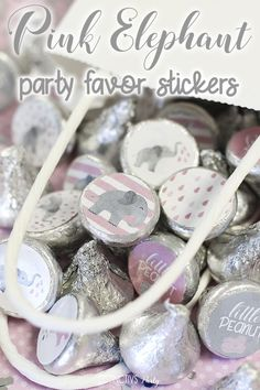 40 Count Mini Candy Bar Wrapper Stickers Delicate Pink Cross Baptism or Baby Shower Small Favors