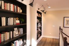Do you have a wide hallway?  Make it a mini-library!