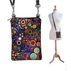 SALE Cell Phone Case Small Crossbody Bag  iPhone Shoulder Bag Cross Body Purse, Colorful Bubbles Dots Circles  (RTS) on Etsy, $28.44 CAD